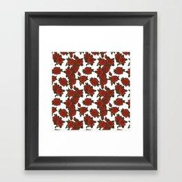 americana: red rose Framed Art Print