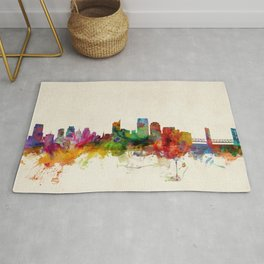 Sacramento California Skyline Rug