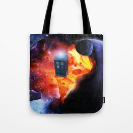 Space Tardis Tote Bag