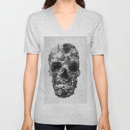 Town Skull B&W Unisex V-Neck