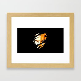 Hero Face Framed Art Print