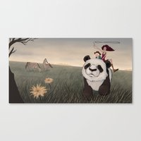 hunting Canvas Prints featuring Hunting by Vera Johansen