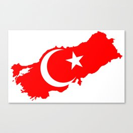 Turk Bayragi Canvas Print