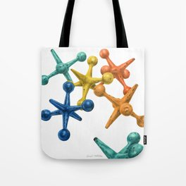 Jack's Jacks- An Abstract- Square Format Tote Bag