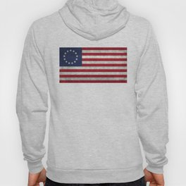 The Betsy Ross flag - Vintage grunge version Hoody