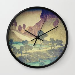 A Valley in the Evening Wall Clock