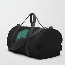 Dreamcatcher Turquoise: Green background Duffle Bag