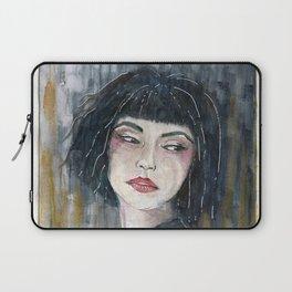 Blue woman Laptop Sleeve