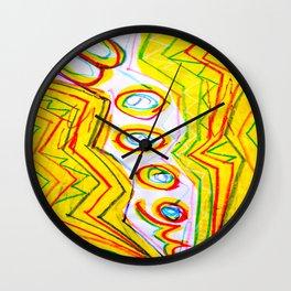 Yellow Reverb Lightning BOOM Wall Clock