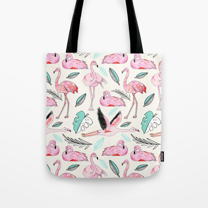 Flamingos Forever Tote Bag