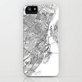 Montreal White Map iPhone Case