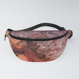 Copper Brown Agate Mineral Gemstone Geode Fanny Pack