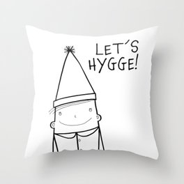 Scandinavian Hygge illustration art Throw Pillow
