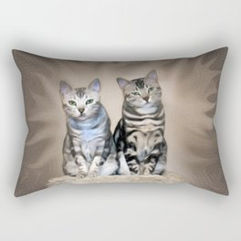 The Glare of the Silver Meowbles  Rectangular Pillow