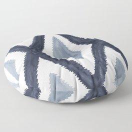 Del Rio Watercolor in Blue Floor Pillow