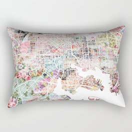 Baltimore map Rectangular Pillow