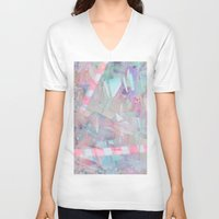 holographic V-neck T-shirts featuring Crystalline by Jevan Strudwick