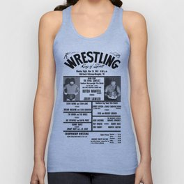#16 Memphis Wrestling Window Card Unisex Tank Top