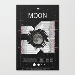 OMG SPACE: Moon 1950 - 1960 Canvas Print