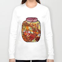 vegetables Long Sleeve T-shirts featuring Preserved vegetables by ChiLi_biRó