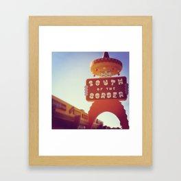 South Of the Border! Framed Art Print