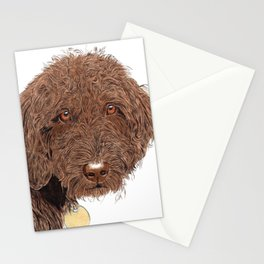 Chocolate Labradoodle Stationery Cards