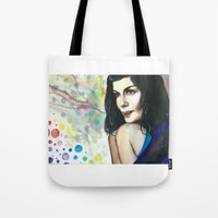 amelie Tote Bags featuring Amelie by Jessis Kunstpunkt.