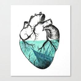 Sinking Heart Canvas Print