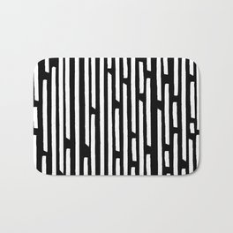 Black and White Stripes Bath Mat