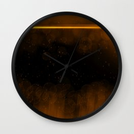 Amber Luminescence Wall Clock