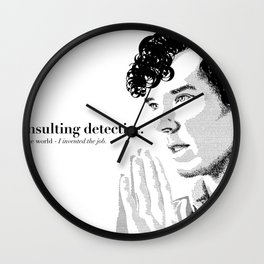 The Science of Deduction Wall Clock