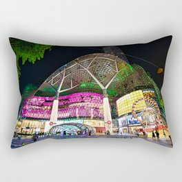 Christmas Glimmering Shopping Mall Full Frontage Rectangular Pillow