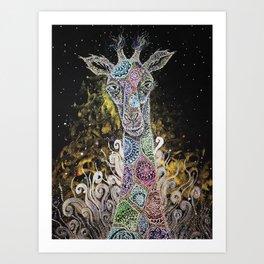 Mystical Safari Series #4 Giraffe Offspring Art Print