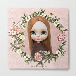 ERREGIRO BLYTHE DOLL ROBINNE FLOWER CROWN Metal Print