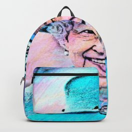 Queen Elizabeth II Artistic Illustration Fairy Style Backpack