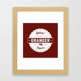 Granger Optical Repair Framed Art Print
