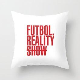 FutbolRealityShow_Red Throw Pillow