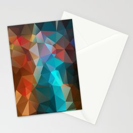 Abstract bright background of triangles polygon print illustration Stationery Cards
