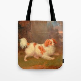 dog painting Blenheim spaniel Tote Bag