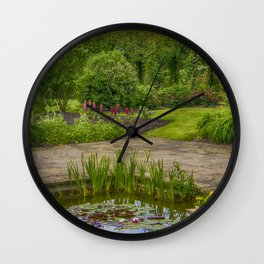 Reflected Clouds Wall Clock