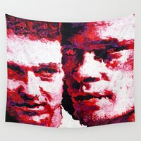 fight Wall Tapestries featuring FIGHT! by Christopher Brewer Art