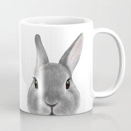 Netherland Dwarf rabbit Grey, illustration original painting print Coffee Mug