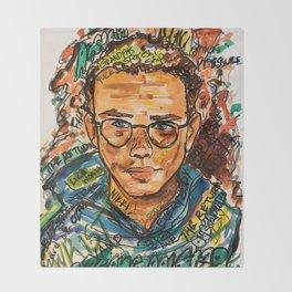 rapper,colourful,colorful,poster,wall art,fan art,music,hiphop,rap,logicc,lyric Throw Blanket