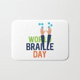 World Braille Day Bath Mat