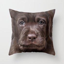Drawing puppy Labrador Throw Pillow