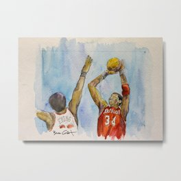 Hakeem Olajuwon - Retired Pro Basketball Player Metal Print