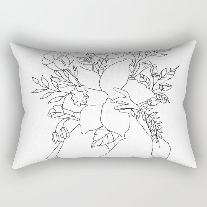 Blossom Hug Rectangular Pillow