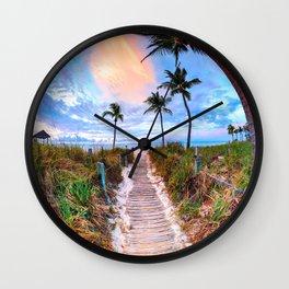 Tropical Sunrise Wall Clock