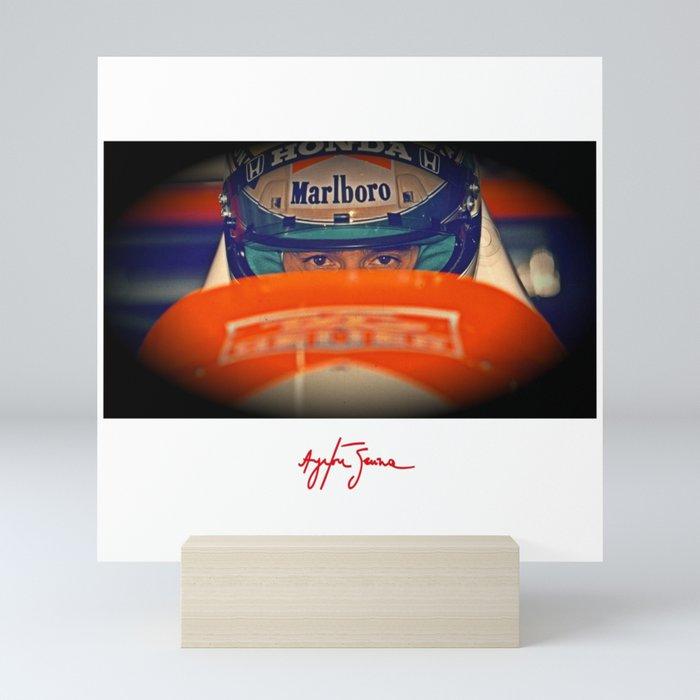 Ayrton Senna Tribute Design III Mini Art Print