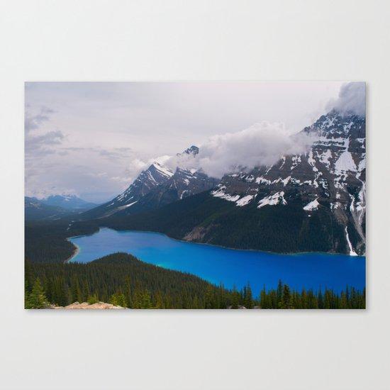 Bright Blue Body Canvas Print